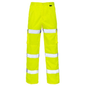 Hi Vis Trousers Combat 3 Band - Yellow