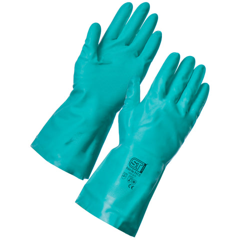Chemical Resistant Gloves Green N15 - Worklayers.co.uk
