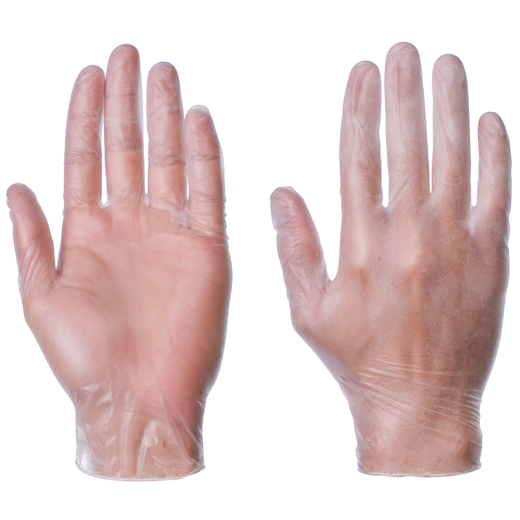 Clear Powder Free Vinyl Gloves AQL 1.5
