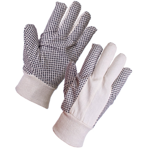 Cotton Gloves Drill (8oz) with Grip - Worklayers.co.uk