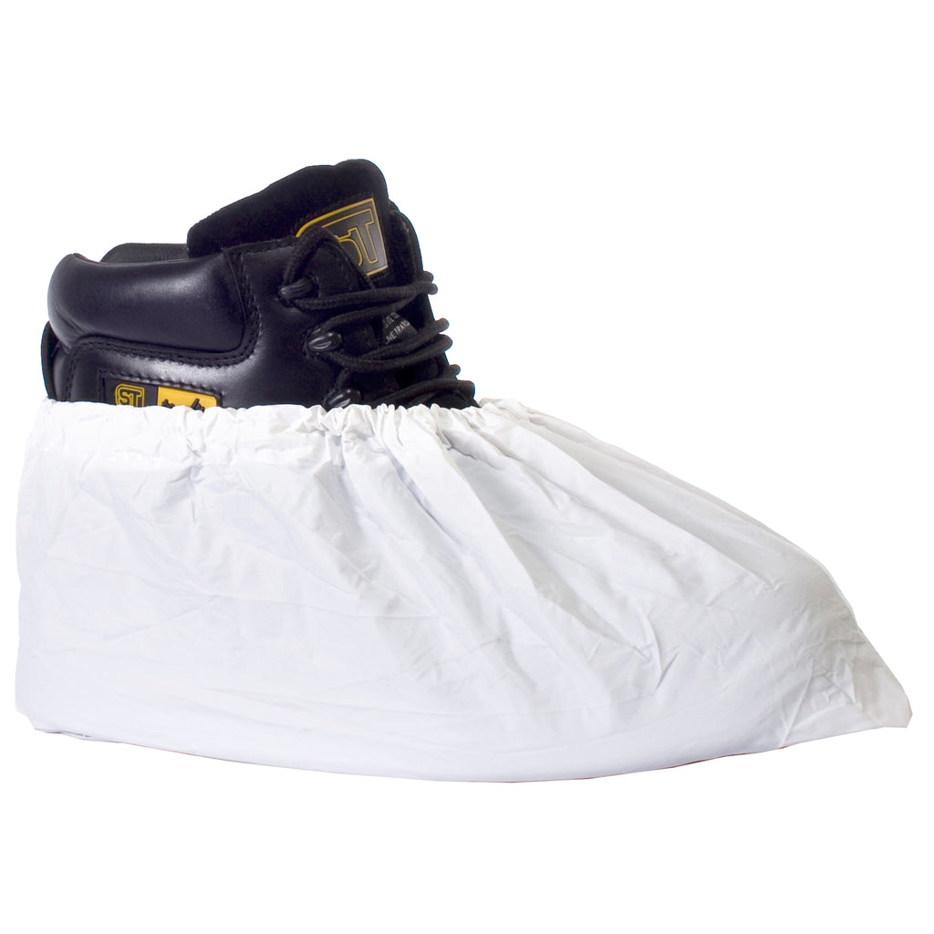 Disposable PVC Overshoes White - Worklayers