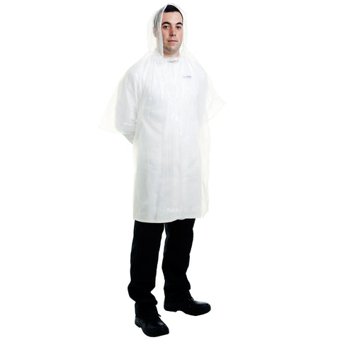 Disposable Rain Ponchos - 300pcs Worklayers