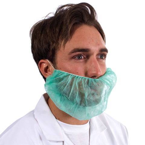 Green Disposable Beard Snood - Worklayers
