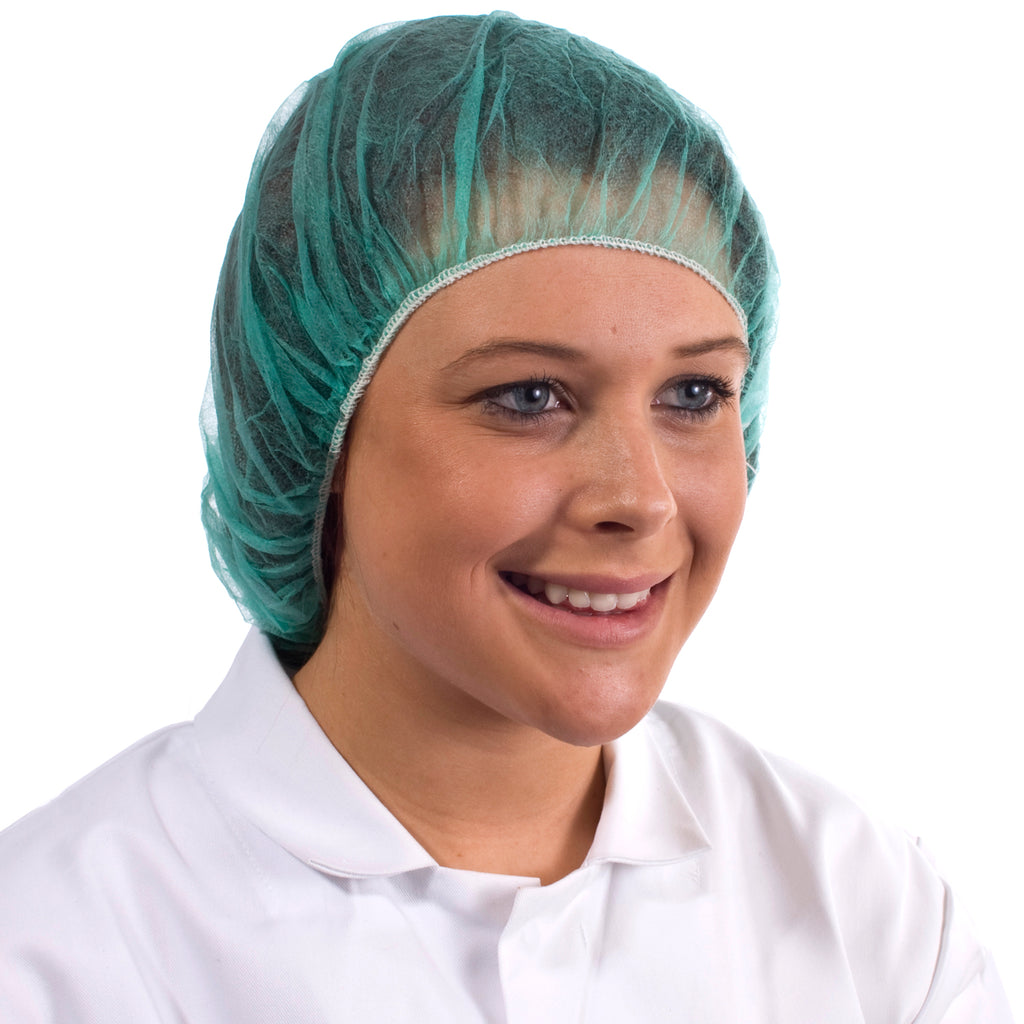 Green Disposable Bouffant Cap - Worklayers