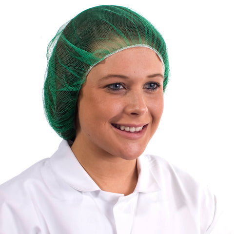 Green Disposable Hair nets - Worklayers