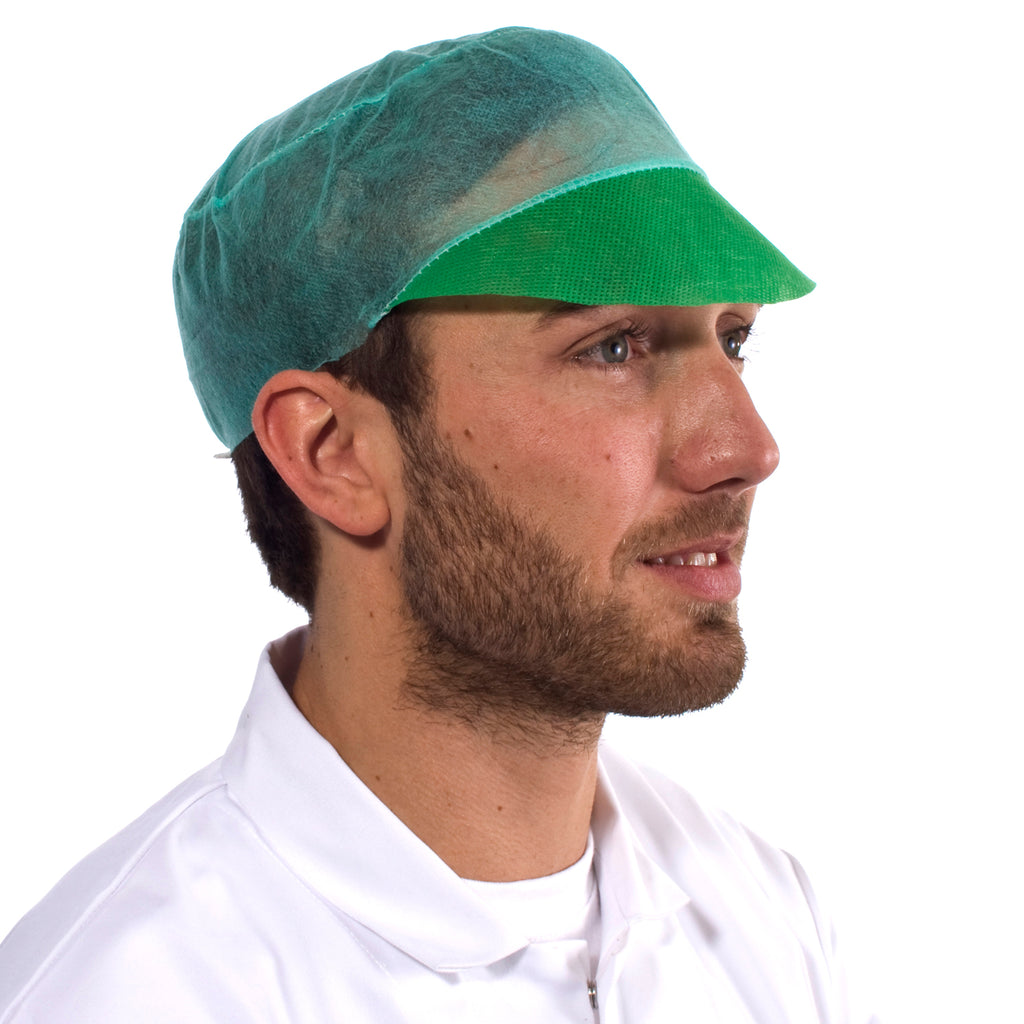 Green Disposable Snood Cap - Worklayers