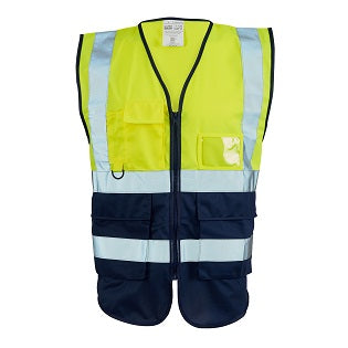 Executive Hi Vis Vest 2 Tone - Yellow