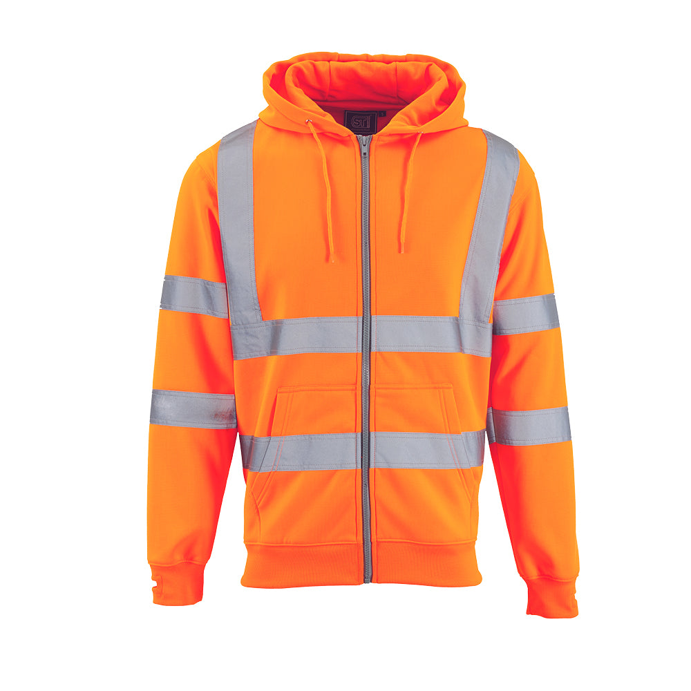 Hi Vis Fleece Hoodie Orange - Worklayers.co.uk