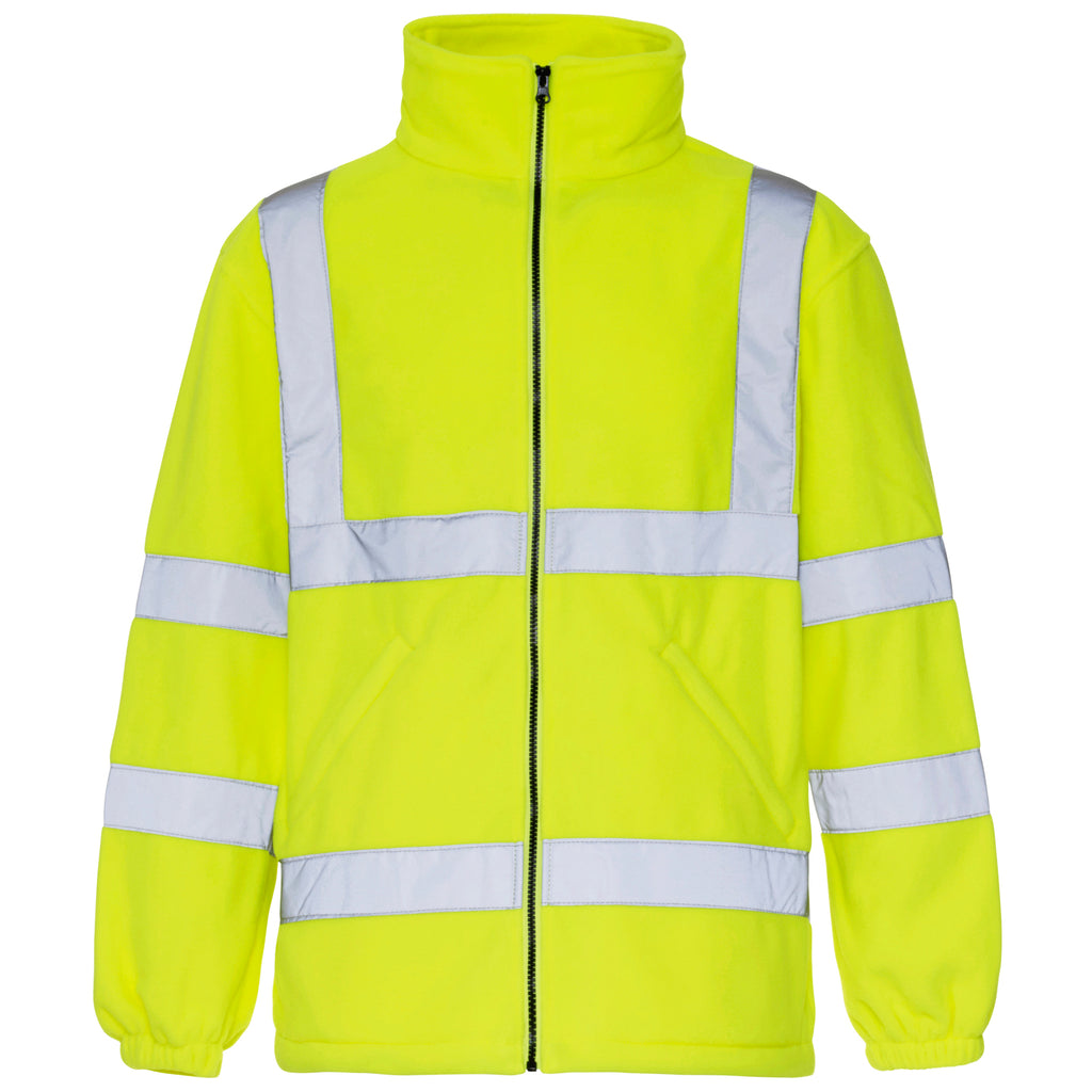 Hi Vis Fleece Yellow - Worklayers.co.uk