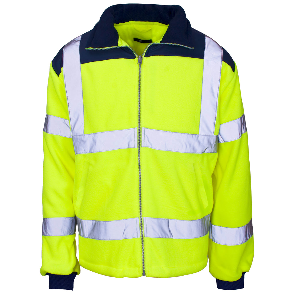 Hi Vis Fleece Yellow (Rain Patch) - Worklayers.co.uk