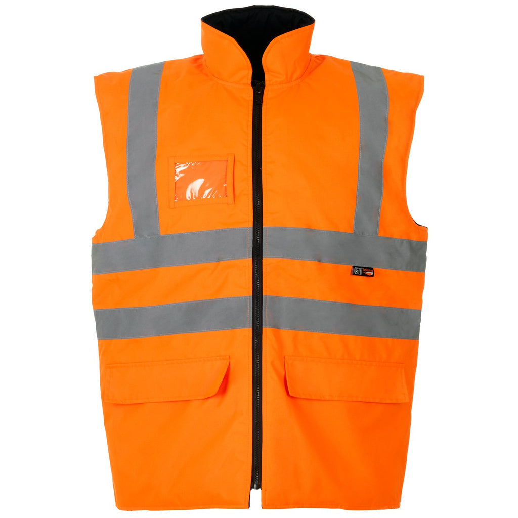 Hi Vis Gilet Interactive Orange - Worklayers.co.uk