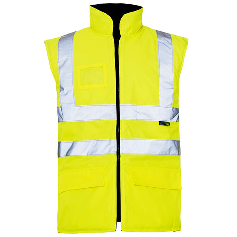 Hi Vis Gilet Interactive Yellow - Worklayers.co.uk
