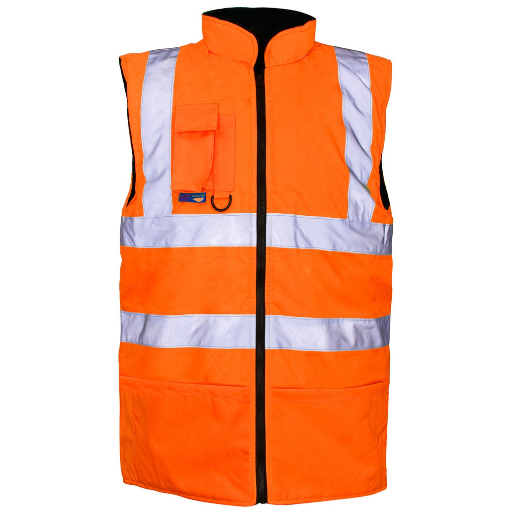 Hi Vis Gilet Orange - Worklayers.co.uk