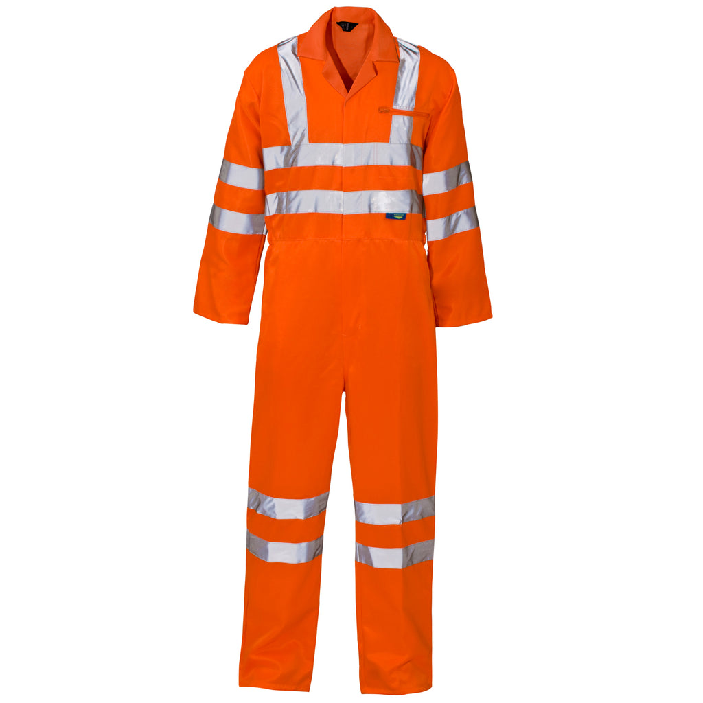 Hi Vis Overalls Orange - Worklayers.co.uk