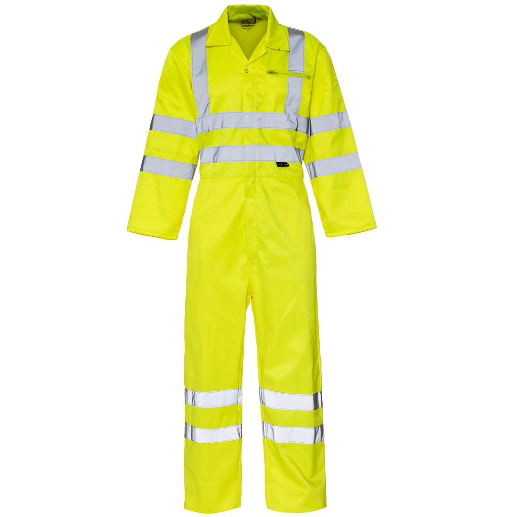 Hi Vis Overalls Yellow - Worklayers.co.uk