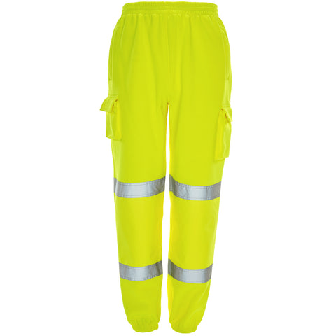 Supertouch Hi Vis Combat Jogging Bottoms - Yellow - Worklayers