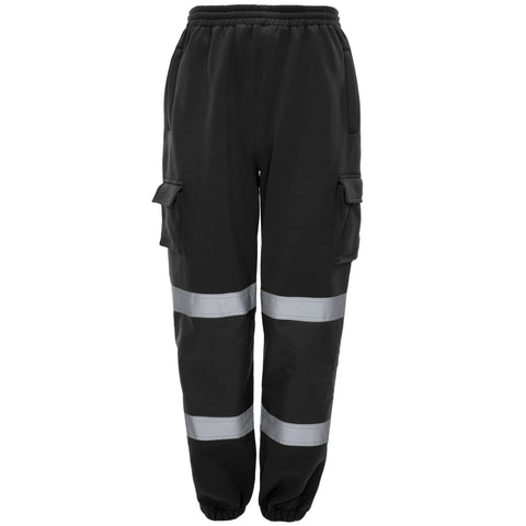 Supertouch Hi Vis Jogging Bottoms - Black - Worklayers