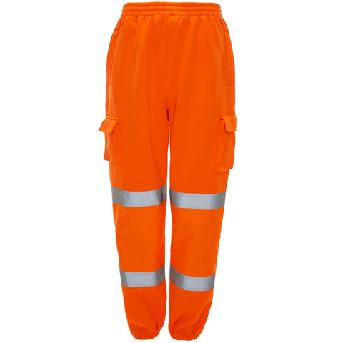 Supertouch Hi Vis Combat Jogging Bottoms - Orange - Worklayers
