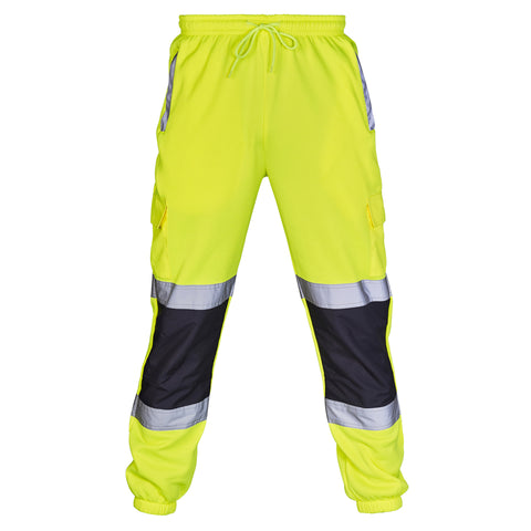 Hi Vis Jogging Bottoms Two Tone - Yellow