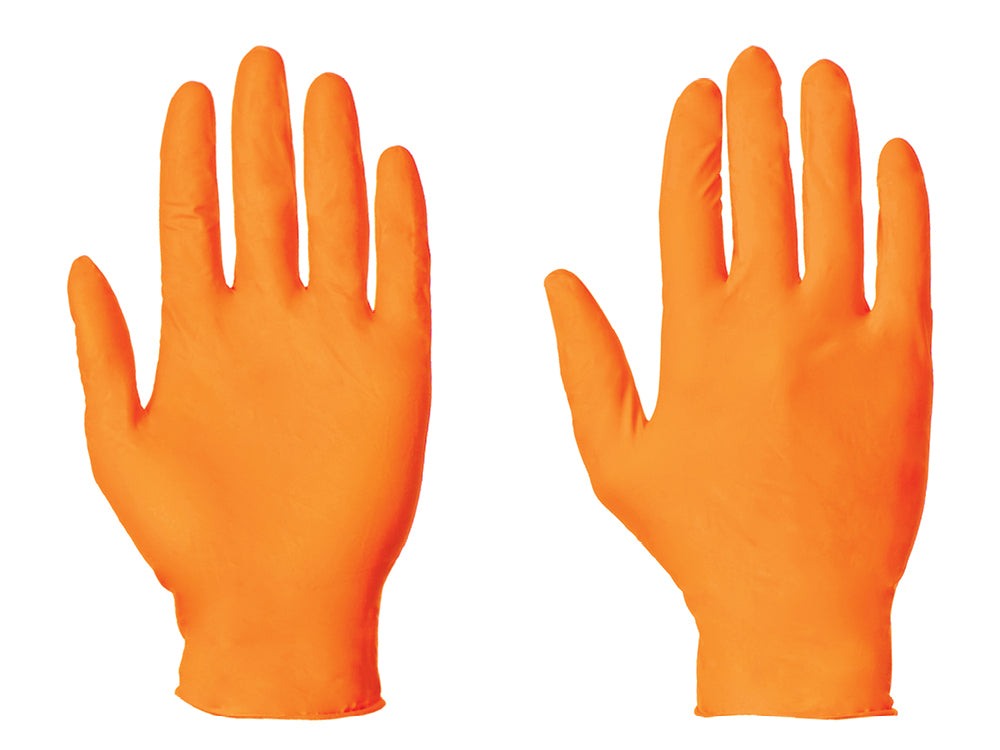 Orange Nitrile Gloves - Worklayers