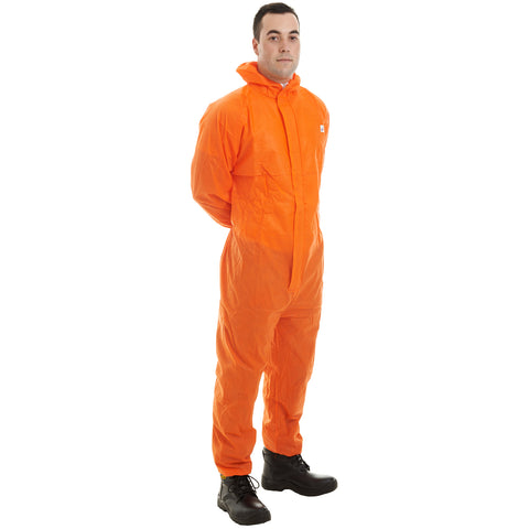 Orange disposable Cat 3 Type 5/6 SMS Coverall - Worklayers