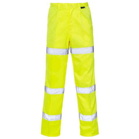 Hi Vis Trouser 3 Band Yellow F - Supertouch