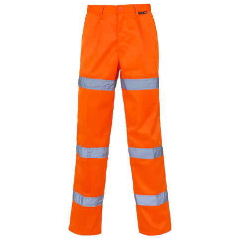 Hi Vis Trouser 3 Band Supertouch F - Orange