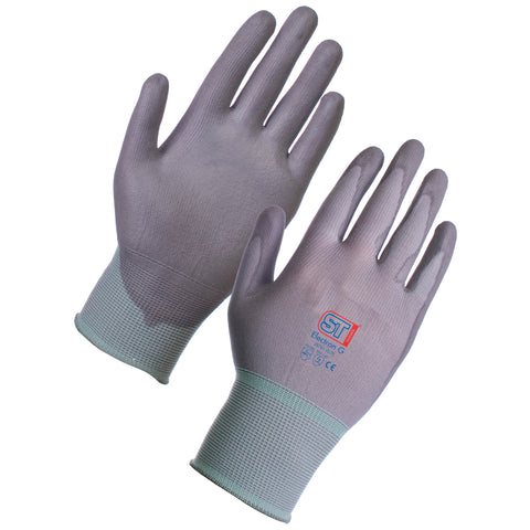 PU Gloves (Grey) - Worklayers.co.uk
