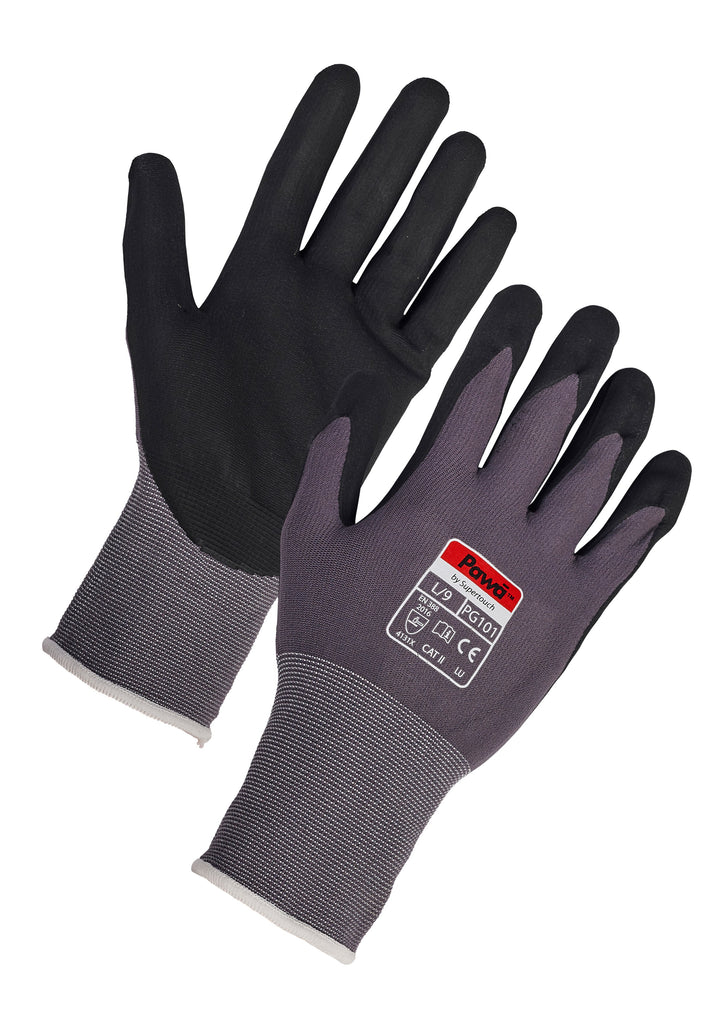 Pawa PG101 Gripper Gloves - Worklayers.co.uk