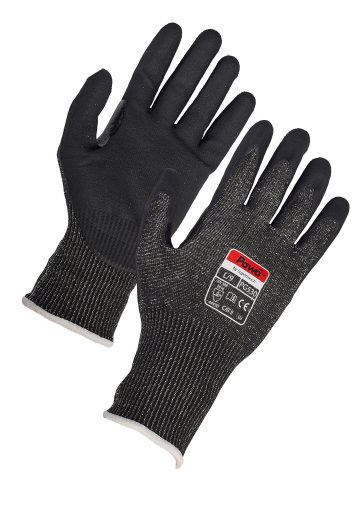 Pawa PG530 D Cut Resistant Gloves - Worklayers.co.uk