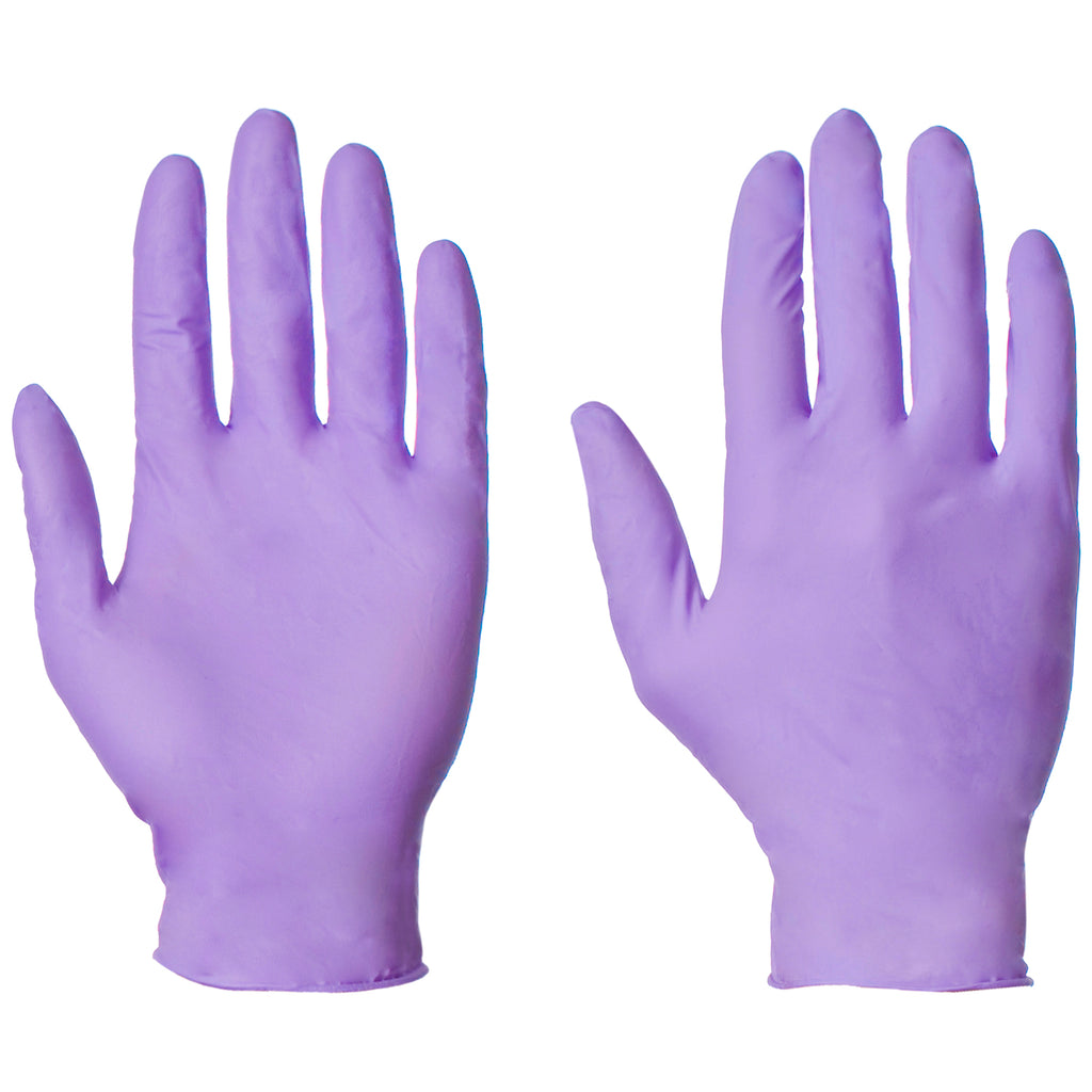 Purple Nitrile Gloves AQL 1.5 - Worklayers
