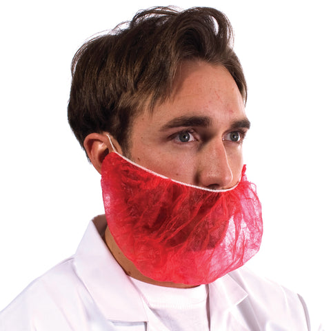 Red Disposable Beard Snood - Worklayers