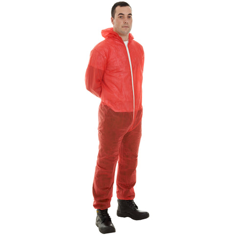Red Disposable Coveralls - Worklayers