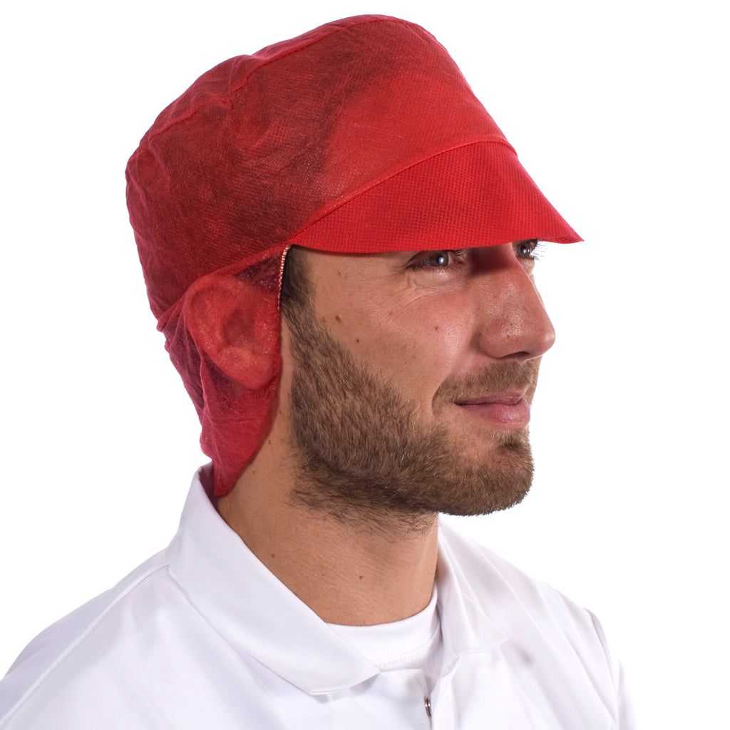 Red Disposable Snood Cap - Worklayers