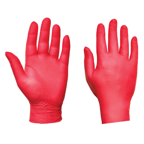 Red Nitrile Gloves Ultra - Worklayers