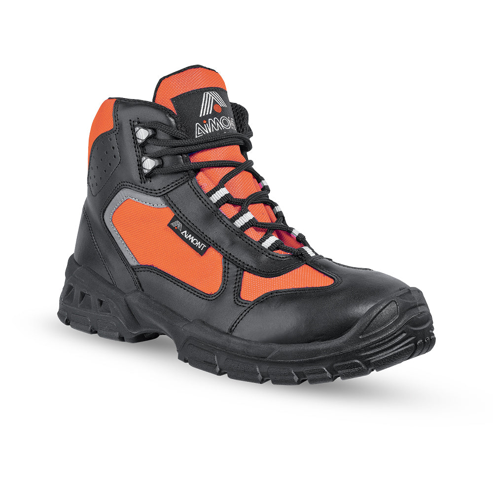 Reflective Boots Aimont Orange Metal Free (S3 SRC) - Worklayers.co.uk