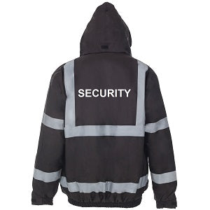 Black Security Jacket with Logo - Supertouch