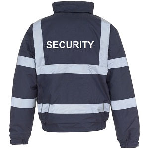 Security Jacket with Security Logo - Navy