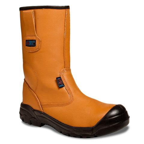 Safety Rigger Boots Tan (S1P SRC) - Worklayers.co.uk