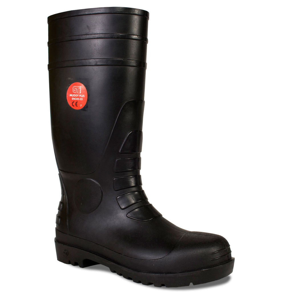 Safety Wellies Plus Black - Worklayers.co.uk
