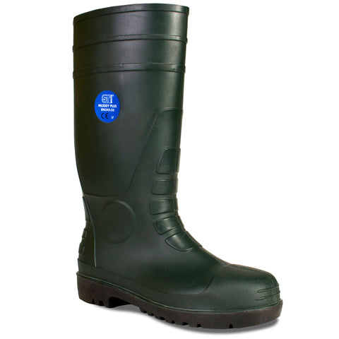 Safety Wellies Plus Green - Worklayers.co.uk