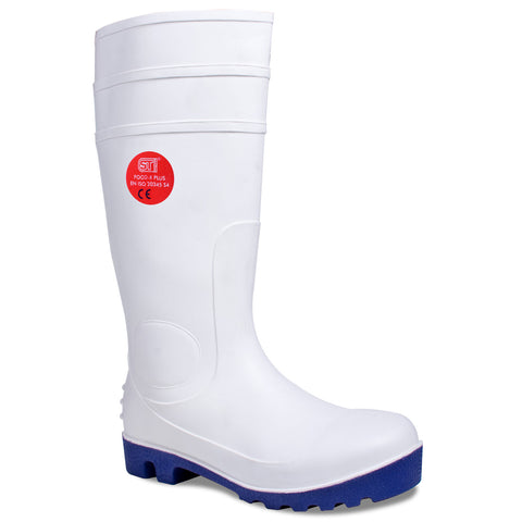 Safety wellies Plus White - Worklayers.co.uk