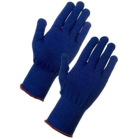 Thin Thermal Gloves (Navy) - Worklayers.co.uk
