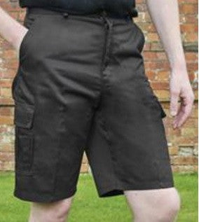 Cargo Pocket Shorts Absolute Apparel - Black - Worklayers