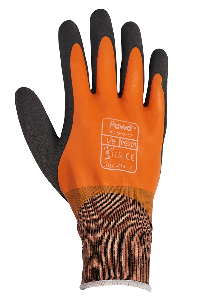 Waterproof Work Gloves Pawa PG201 - Worklayers.co.uk