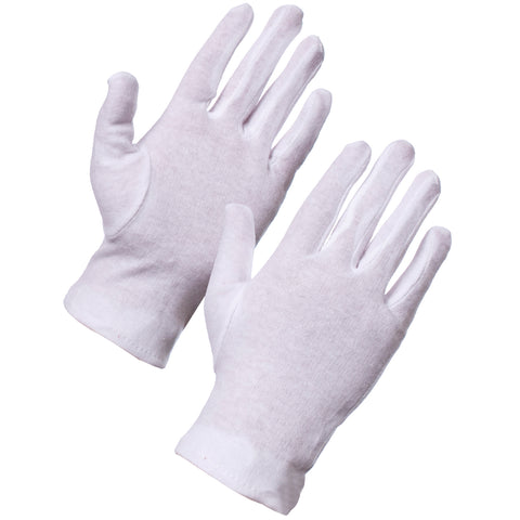 White Cotton Gloves - Worklayers.co.uk
