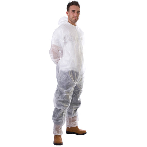 White Disposable Coveralls - Worklayers
