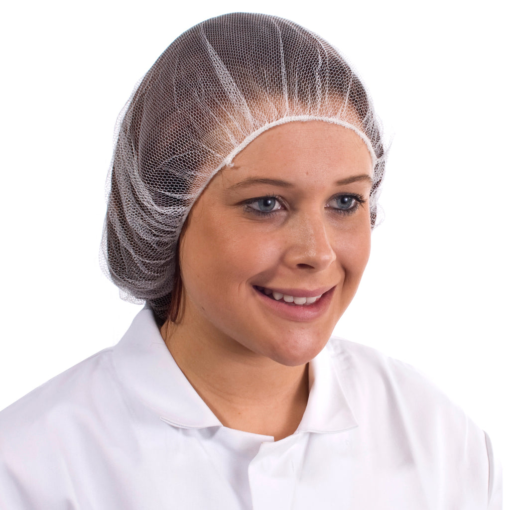 White Disposable Hair nets - Worklayers