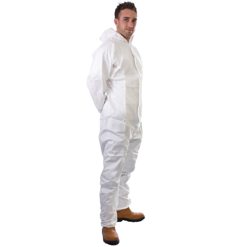 White disposable Cat 3 Type 5/6 Coverall Plus - Worklayers