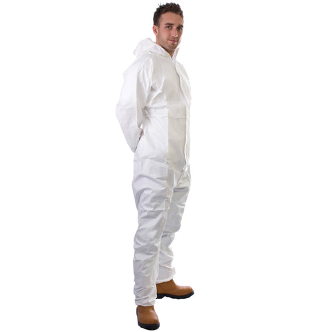 White disposable Coverall Cat 3 Type 5/6 - Worklayers